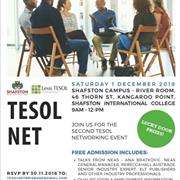 1 December 2018 TESOL-NET: FREE networking event in Brisbane