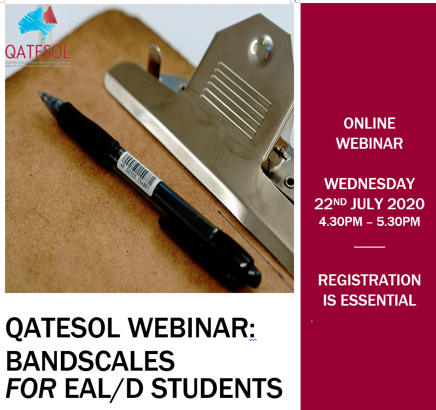 RECORDING AVAILABLE: Bandscales for Primary EAL/D students